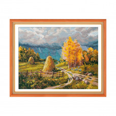 1273 Набор для вышивания ОВЕН 'Осенняя гроза'40×30см