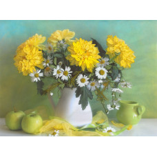 7004 Желтые хризантемы