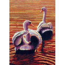 01158-5678000 Лебеди в сумерках