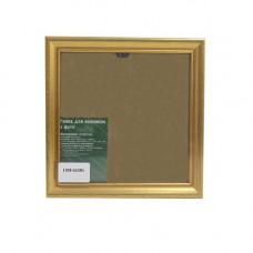 1308 Рама со стеклом, 16х16 см (GLDR1 золото)