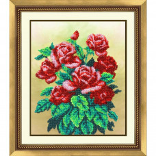 Б-1234 Букет алых роз