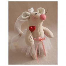 LV001 Набор для изготовления текстильной игрушки 18см LOVE STORY Невеста (Ваниль)