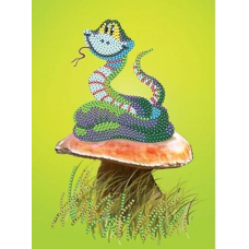 В1045 Канва с рисунком Alisena 'Змейка', 13*18 см