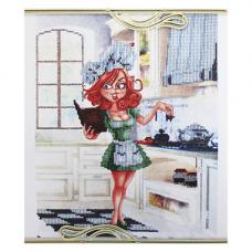 ВН1088 Набор для вышивания Alisena 'Повариха у плиты', 25*32 см