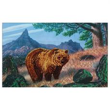 63007 Набор для вышивания бисером Astrea 'Медведь' 40х26см