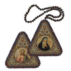 ВХ1015 Набор для вышивания бисером Нова Слобода ' Богородица 'Умягчение злых сердец'7x7см