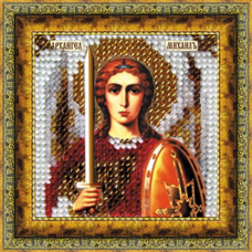 134ПМИ Набор для вышивания бисером 'Вышивальная мозаика' Икона 'Св. Архангел Михаил', 6,5*6,5 см