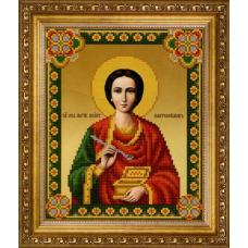 СБ-1004 Канва с рисунком для вышивания бисером Икона 'Св.Пантелеймон' Hobby&Pro 17,7*21,7см