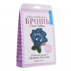 НБР-18010 Набор для вышивания бисером: Брошь «Синий цветок».