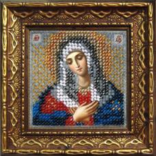 2068дПИ Набор для вышивания бисером 'Вышивальная мозаика' Икона 'Прсв. Богородица Умиление', 6,5*6,5 см
