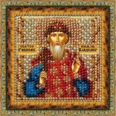 023ПМИ Набор для вышивания бисером 'Вышивальная мозаика' Икона 'Св. Князь Владимир', 6,5*6,5 см