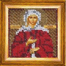 043ПМИ Набор для вышивания бисером 'Вышивальная мозаика' Икона 'Св. Блаженная Ксения Петербургская', 6,5*6,5 см