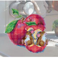 В1125 Канва с рисунком Alisena 'Мышки обжоры', 25*24 см