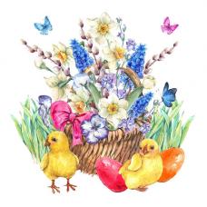 171/Б Набор для вышивания бисером наволочки для подушки Матренин Посад 'Пасхальные цыплята' 41*41см