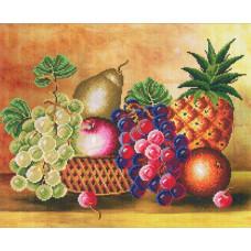 8153 Картина со стразами 'Натюрморт с ананасом', 81*69см