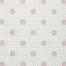 Дизайнерская канва Bestex 30*30 см (Розовый горошек)