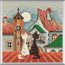 AM0011 Набор алмазной мозаики Риолис «Город и кошки. Весна» 20*20см