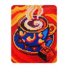 MP011 Алмазная картина Колор Кит 'Кофейный аромат'17*21см