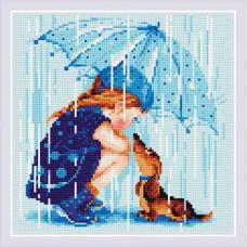 AM0023 Набор алмазной мозаики Риолис «Дождик» 27*27см