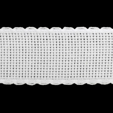 Канва 'лента', 1,5м*3,5см, 100% хлопок Bestex (белый/белый)