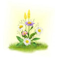 7025 Ромашки с цветочками