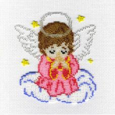 БК-183 Набор для вышивания 'МП Студия' 'Ангелочек в розовом', 14х12 см