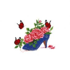 НР-3062 Канва с рисунком для вышивания бисером 'Туфелька' Hobby&Pro 25*20см