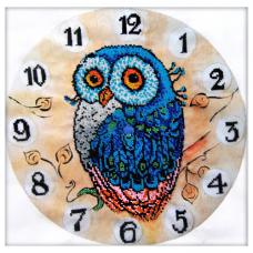 68003 Набор для вышивания бисером Astrea 'Часы-Сказочная сова' 30х30см