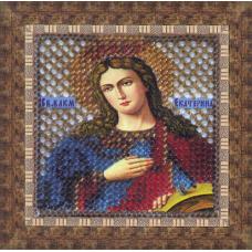 044ПМИ Набор для вышивания бисером 'Вышивальная мозаика' Икона 'Св. Великомученица Екатерина', 6,5*6,5 см