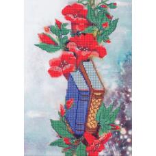 В1119 Канва с рисунком Alisena 'Книжки и цветы', 35*22 см
