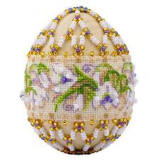 В212 Набор для бисероплетения Риолис 'Яйцо пасхальное 'Подснежники''6,5*5 см
