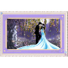 8691 Картина со стразами 'Свадьба', 103*61см