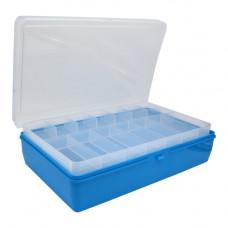ТИП-2 Коробка, двухъярусная (со съёмной полочкой), 235*150*65 мм. (голубой)