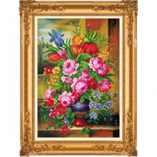 Y6001 Картина со стразами 6D 'Букет роз', 52*72см
