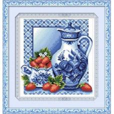 1187 Мозаика Cristal 'Гжель', 37*40 см