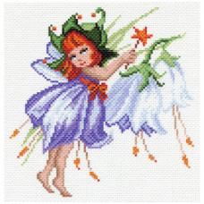 1636-1 Канва с рисунком Матренин посад 'Фея колокольчик' 21*29 см (28*37 см)