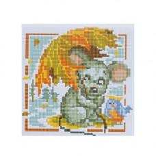 BZ063 Мозаика на деревянной основе 'Мышка', 20*20 см