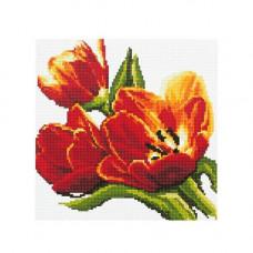 DZ012 Мозаика на деревянной основе 'Тюльпаны', 30*30 см