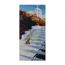 F0806 Мозаика 'Лестница' 17*40 см. (холст 20*43см), Cristal