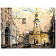1800 Канва с рисунком Матренин посад 'Москва, ул. Солянка' 37*49см