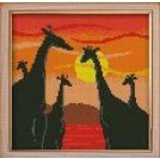 1331 Мозаика 'Жирафы', 25*25см