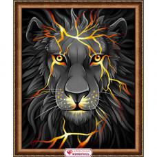 АЖ-1745 Картина стразами «Лавовый лев» 40*50см