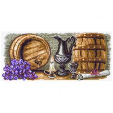 АЖ-1722 Картина стразами 'Фонарь в сирени' 30*40см