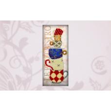 50111 Набор для вышивания бисером Astrea 'Чашки' 17х40см