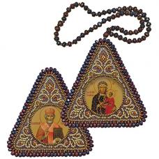 ВХ1035 Набор для вышивания бисером Нова Слобода 'Богородица Одигитрия и Св. Николай Чудотворец'7x7см