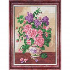 КБЦ-3047 Канва с рисунком для бисера 'Запах роз ' А3