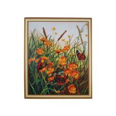 БН-3107 Бабочки на полевых цветах