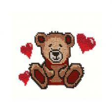 Б-0078 Мишка с сердцами