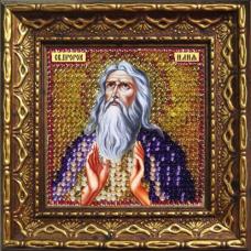 2129дПИ Набор для вышивания бисером 'Вышивальная мозаика' Икона 'Св. Пророк Илия', 6,5*6,5см