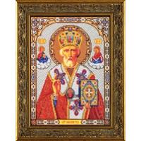 В473 Набор для вышивания бисером Кроше 'Николай Чудотворец' 20*27см